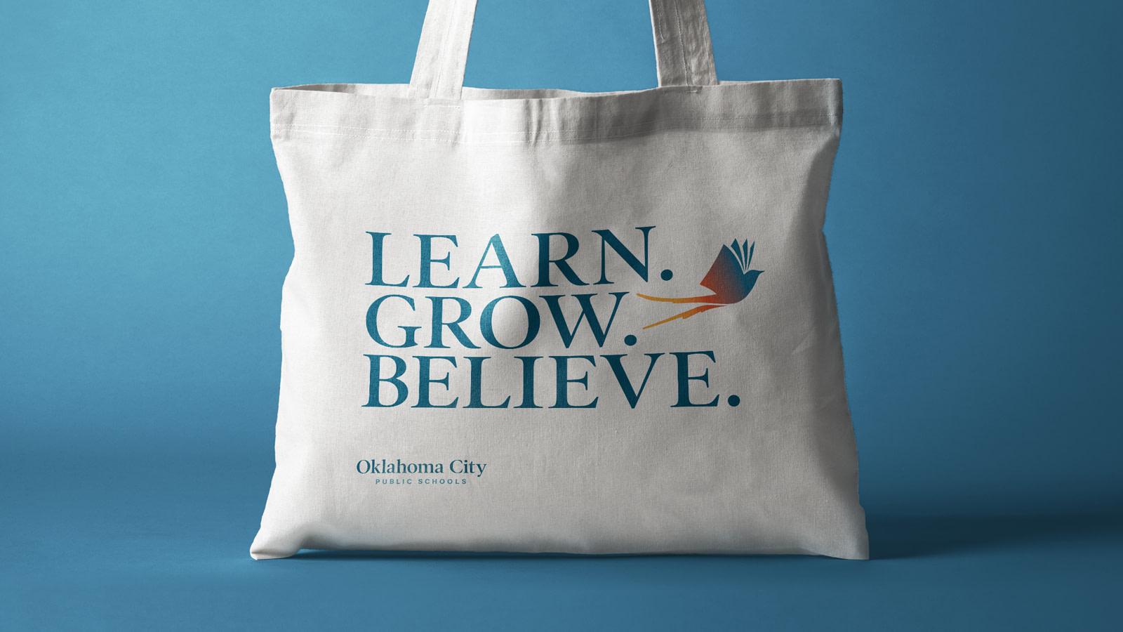 Oklahoma City Public Schools new brand tote bag design