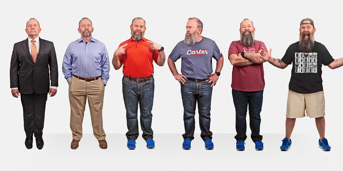Carter Chevrolet's newest salesman grows a giant beard to fit in