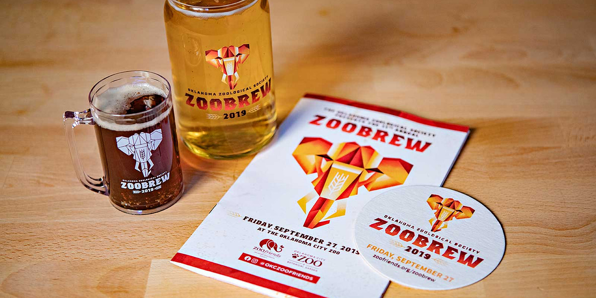 Event branding for Oklahoma City Zoological Society's 2019 Annual Zoo Brew