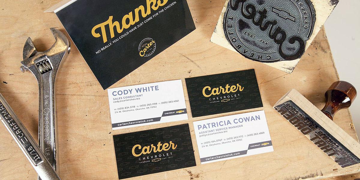 Brand identity for Carter Chevrolet