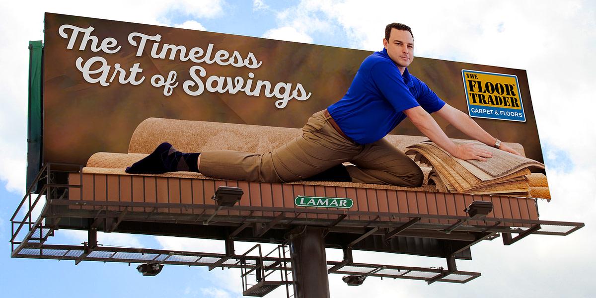 Seinfeld-inspired billboard advertisement for The Floor Trader went viral
