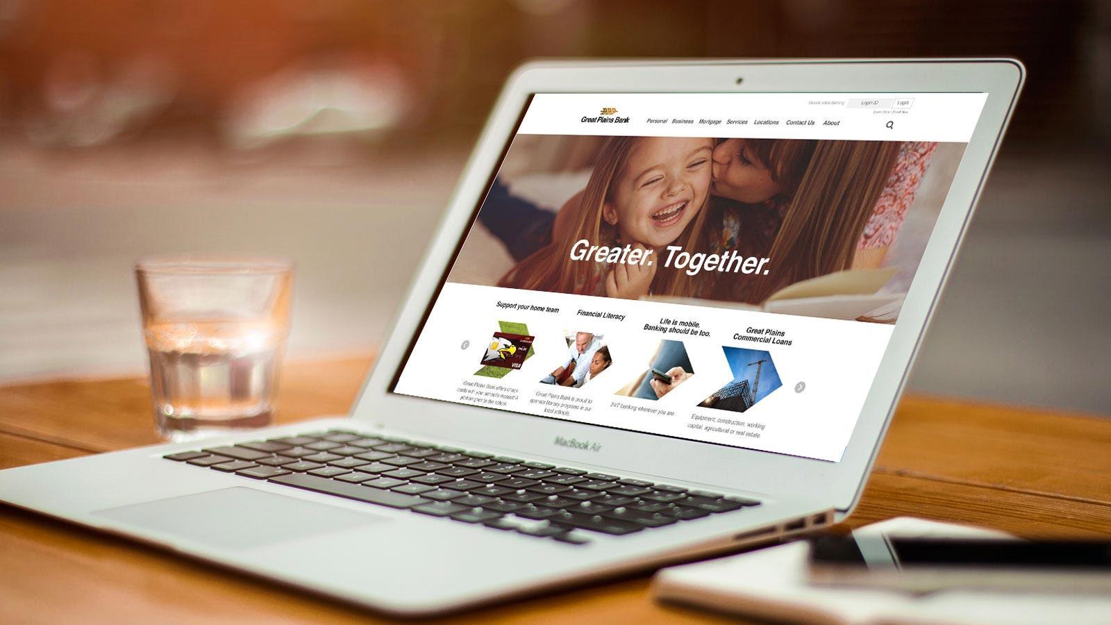Website design for Great Plains Bank