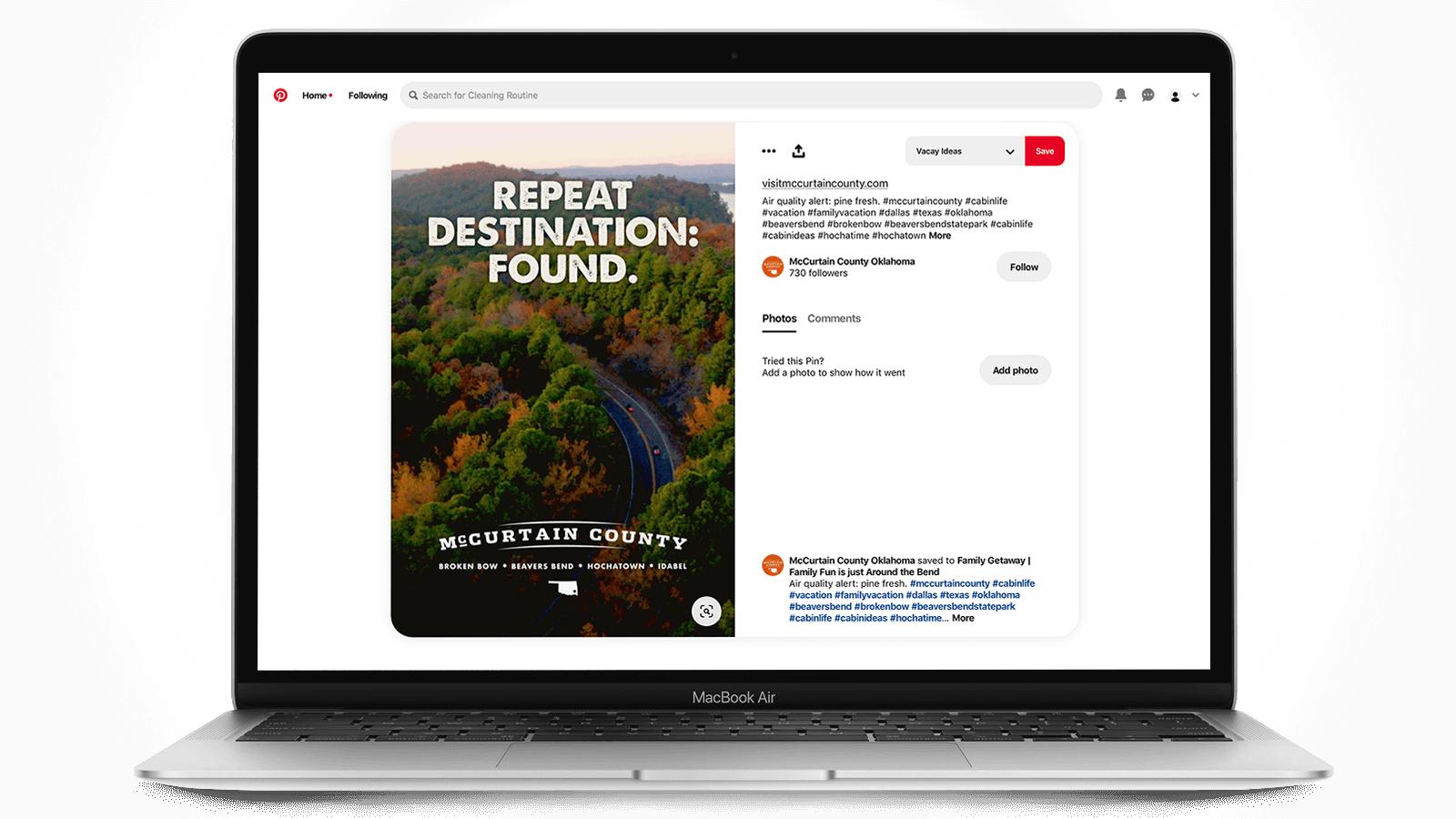 Tourism marketing on Pinterest