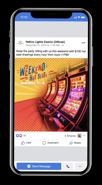Casino promotion on Facebook