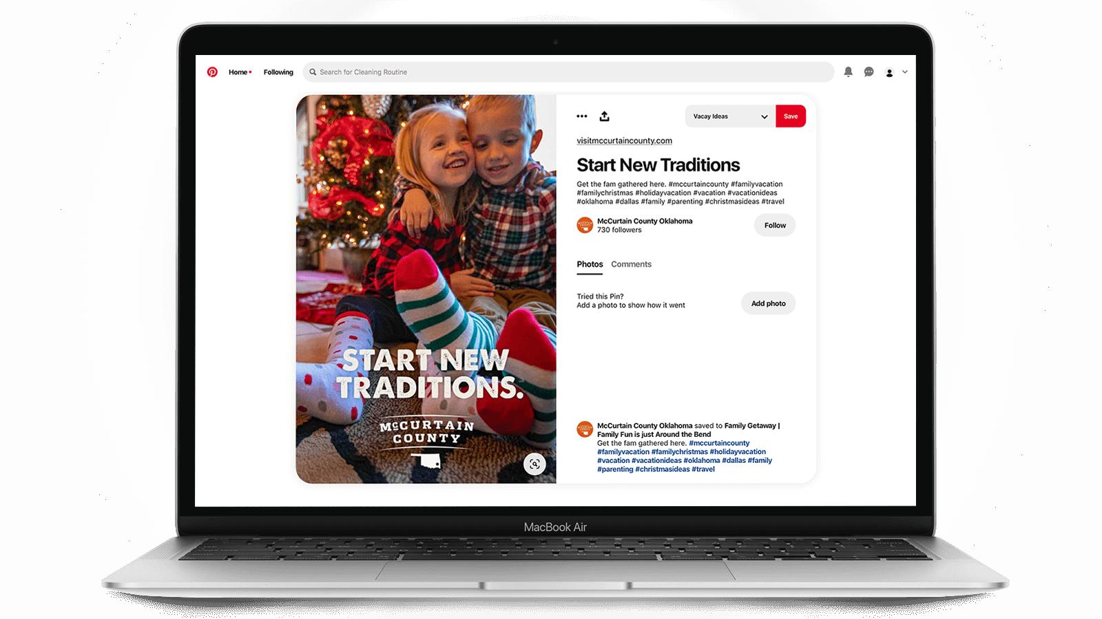 Tourism marketing on Pinterest - Christmas time