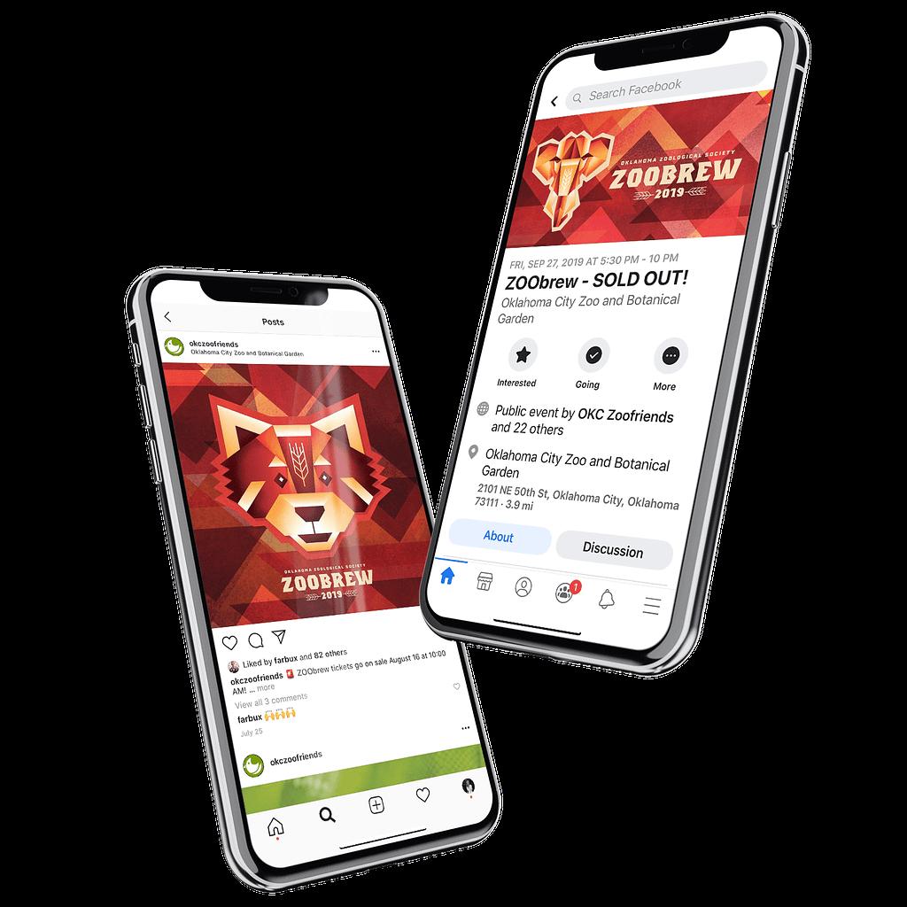 Social media marketing and design for OKC Zoobrew
